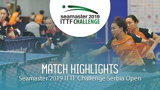 【Video】NG Wing Nam・SOO Wai Yam Minnie VS DVORAK Galia・ZHANG Xuan, 2019 ITTF Challenge Serbia Open semifinal