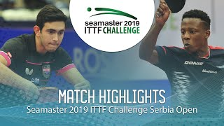 【Video】AFANADOR Brian VS SALIFOU Abdel-Kader, 2019 ITTF Challenge Serbia Open semifinal