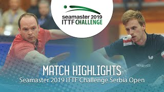 【Video】DRINKHALL Paul VS LANDRIEU Andrea, 2019 ITTF Challenge Serbia Open semifinal
