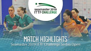 【Video】NG Wing Nam・SOO Wai Yam Minnie VS MADARASZ Dora・PERGEL Szandra, 2019 ITTF Challenge Serbia Open finals