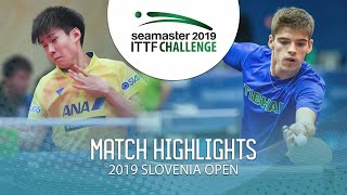 【Video】TAKERU Kashiwa VS CREPNJAK Matevz, 2019 ITTF Challenge Slovenia Open