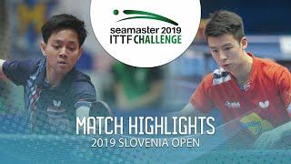 【Video】TANVIRIYAVECHAKUL Padasak VS TIAN Ye, 2019 ITTF Challenge Slovenia Open