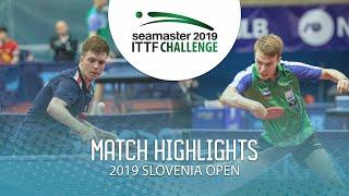 【Video】SIDORENKO Vladimir VS CVETKO Tilen, 2019 ITTF Challenge Slovenia Open