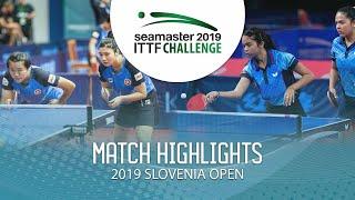 【Video】DIAZ Adriana・DIAZ Melanie VS LIU Qi・MAK Tze Wing 2019 ITTF Challenge Slovenia Open