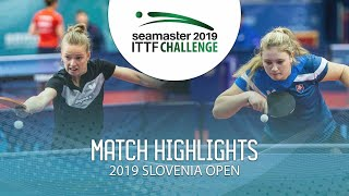 【Video】MIGOT Marie VS KUKULKOVA Tatiana, 2019 ITTF Challenge Slovenia Open best 64