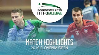 【Video】KOZUL Deni VS KOLAREK Tomislav, 2019 ITTF Challenge Slovenia Open best 64