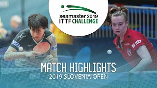 【Video】SOMA Yumeno VS CAKOL Klara, 2019 ITTF Challenge Slovenia Open best 16