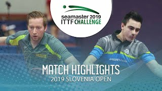 【Video】DEVOS Robin VS OUAICHE Stephane, 2019 ITTF Challenge Slovenia Open best 64