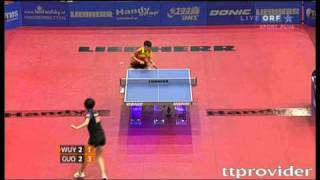 【Video】Guo Yue VS WuYang, LIEBHERR 2010 Austrian Open - ITTF Pro Tour  finals
