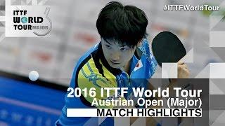 【Video】YUTO Muramatsu VS KOU Lei, 2016 Hybiome Austrian Open  quarter finals
