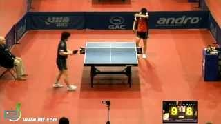 【Video】 Kishikawaseiya VS BAI He, 2012  Polish Open best 32