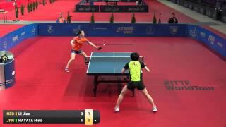 【Video】HINA Hayata VS LI Jiao, 2016 Polish Open  best 16