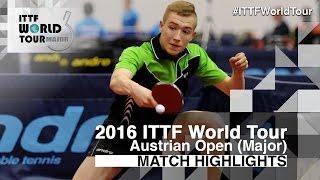 【Video】TAKUYA Jin VS KOTOWSKI Tomasz, 2016 Hybiome Austrian Open