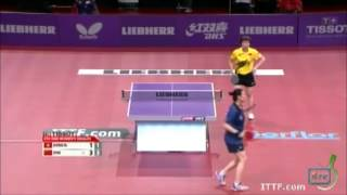 【Video】Zhu Yuling VS JIANG Huajun, LIEBHERR 2013 World Table Tennis Championships best 16