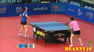 【Video】LI Jiao VS SHEN Yanfei, 2010 Polish Open - ITTF Pro Tour  finals