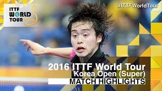 【Video】MASATAKA Morizono VS BROSSIER Benjamin, 2016 Korea Open  best 32