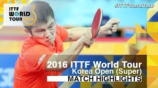 【Video】FAN Zhendong VS LEE Sangsu, 2016 Korea Open  best 16