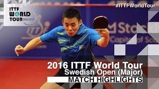 【Video】CHEN Chien-An VS DESAI Harmeet, 2016 Swedish Open  best 32