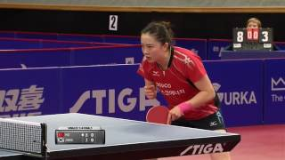 【Video】HU Melek VS JEON Jihee, 2016 Swedish Open  quarter finals