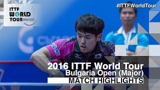 【Video】MIZUKI Oikawa VS Adrien Mattenet, 2016 - Asarel Bulgaria Open  best 16