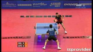 【Video】BOLL Timo VS APOLONIA Tiago, LIEBHERR 2010 Austrian Open - ITTF Pro Tour  finals