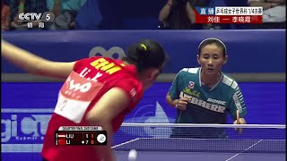 【Video】LI Xiaoxia VS LIU Jia, 2014 Women's World Cup quarter finals