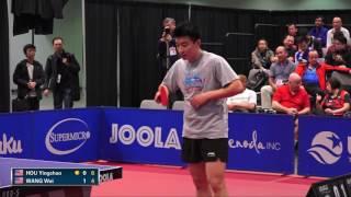 【Video】HOU Yingchao VS WANG Wei, 2016 US Open semifinal