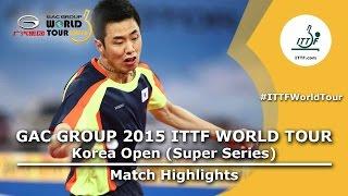【Video】KOKI Niwa VS JOO Saehyuk, 2015  Korea Open  semifinal