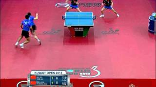 【Video】MA Long・ZHANG Jike VS XU Xin・YAN An, 2013  Kuwait Open, Super Series finals
