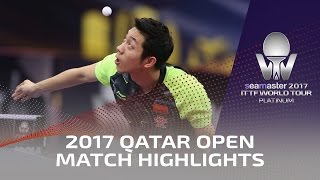 【Video】XU Xin VS FANG Bo, 2017 Seamaster 2017 Platinum, Qatar Open best 16