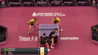【Video】KARLSSON Kristian・KARLSSON Mattias VS MA Long・ZHANG Jike, 2017 Seamaster 2017 Platinum, Qatar Open best 16