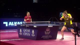 【Video】SHAN Xiaona VS PARTYKA Natalia, 2017 Seamaster 2017 Platinum, Qatar Open quarter finals