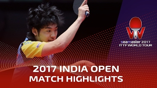 【Video】YUTO Muramatsu VS ACHANTA Sharath Kamal, 2017 Seamaster 2017 India Open best 16