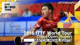 【Video】XU Xin VS CHOONG Javen, 2016 SheSays China Open  best 32