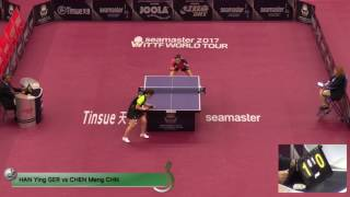 【Video】CHEN Meng VS HAN Ying, 2017 Seamaster 2017 Platinum, Qatar Open best 16