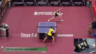【Video】WuYang VS PARTYKA Natalia, 2017 Seamaster 2017 Platinum, Qatar Open best 32