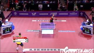 【Video】BOLL Timo VS LUNDQVIST Jens, LIEBHERR 2013 World Table Tennis Championships best 32