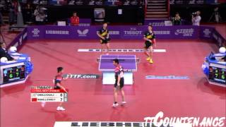 【Video】CHEN Chien-An・CHUANG Chih-Yuan VS Wang Liqin・ZHOU Yu, LIEBHERR 2013 World Table Tennis Championships semifinal
