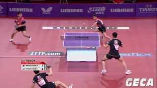 【Video】KAZUHIRO Chan・KENJI Matsudaira VS CHEN Chien-An・CHUANG Chih-Yuan, LIEBHERR 2013 World Table Tennis Championships quarter