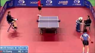 【Video】LEE Sangsu VS YU Ziyang, 2014  Korea Open  best 64