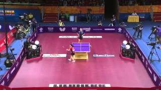 【Video】AI Fukuhara VS BILENKO Tetyana, QOROS 2015 World Table Tennis Championships best 64