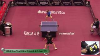 【Video】WONG Chun Ting VS CHUANG Chih-Yuan, 2017 Seamaster 2017 Platinum, Qatar Open best 16