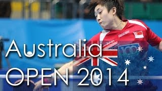 【Video】AIRI Abe VS Feng Tianwei, 2014  Ozcare Australia Open  quarter finals
