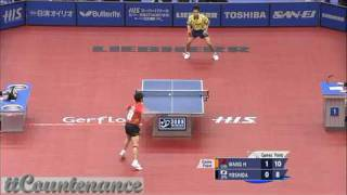 【Video】WANG Hao VS KAII Yoshida, H.I.S. 2009 World Table Tennis Championships quarter finals